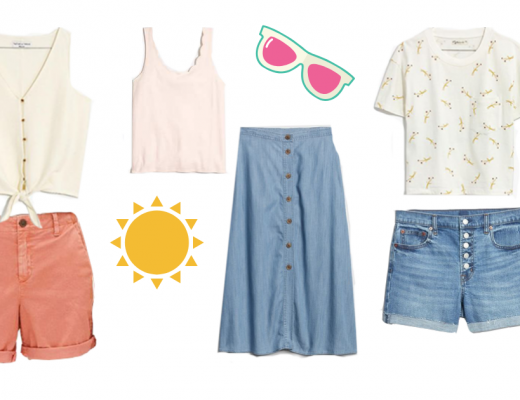 Summer clothes with summer icons